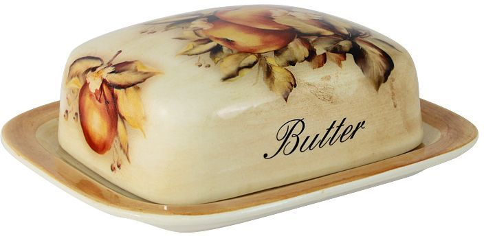 Масленка LCS Зимние яблокиLCS874B-M-ALВеликолепная масленка LCS Зимние яблоки, выполненнаяиз высококачественной керамики, предназначена для красивойсервировки и хранения масла.Она состоит из подноса и крышки. Масло в ней долго остаетсясвежим, а при хранении в холодильнике не впитываетпосторонние запахи. Масленка LCS Зимние яблоки идеально подойдет длясервировки стола и станет отличным подарком к любомупразднику.Размер подноса (по верхнему краю): 17 х 15 см.