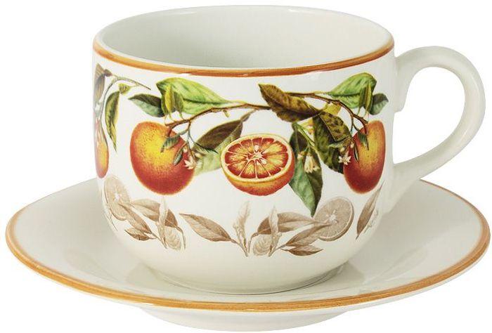 Чашка с блюдцем LCS Апельсины, 0,5 л. LCS933/T/P-AR-ALLCS933/T/P-AR-ALЧашка с блюдцем 0,5 л АпельсиныLCS - молодая, динамично развивающаяся итальянская компания из Флоренции, производящая разнообразную керамическую посуду и изделия для украшения интерьера.В своих дизайнах LCS использует как классические, так и современные тенденции.Высокий стандарт изделий обеспечивается за счет соединения высоко технологичного производства и использования ручной работы профессиональных дизайнеров и художников, работающих на фабрике.