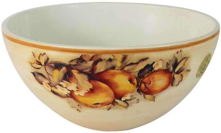 Салатник LCS Зимние яблоки, диаметр 20 смLCS938/G-M-ALСалатник LCS, изготовленный из высококачественной керамики, прекрасно подойдет для подачи различных блюд: закусок, салатов или фруктов. Такой салатник украсит ваш праздничный или обеденный стол. LCS - молодая, динамично развивающаяся итальянская компания из Флоренции, производящая разнообразную керамическую посуду и изделия для украшения интерьера. В своих дизайнах LCS использует как классические, так и современные тенденции.Высокий стандарт изделий обеспечивается за счет соединения высоко технологичного производства и использования ручной работы профессиональных дизайнеров и художников, работающих на фабрике.