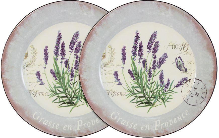 Набор обеденных тарелок LF Ceramic Лаванда, диаметр 25 см, 2 шт банка для чая lf ceramic лаванда 700 мл
