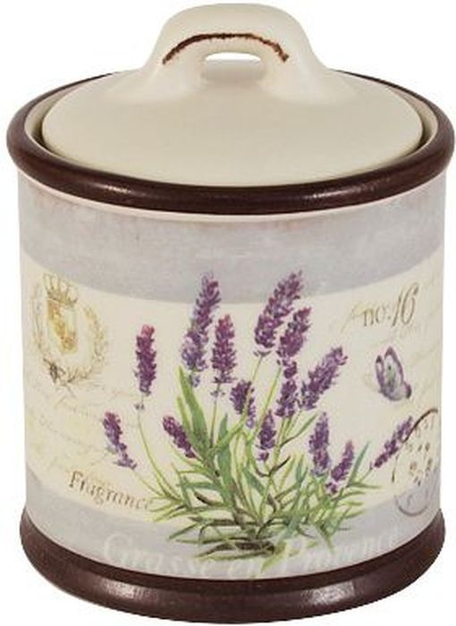 Сахарница LF Ceramic Лаванда, 0,25 л банка для чая lf ceramic лаванда 700 мл