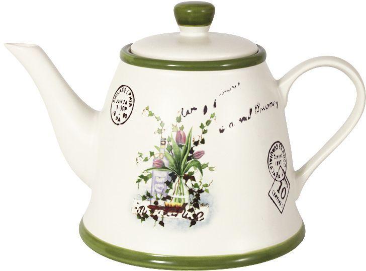 Чайник LF Ceramic Букет, 1,0 л. LF-270F6290-AL банка для чая lf ceramic лаванда 700 мл
