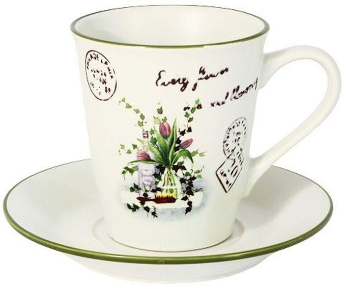 Чашка с блюдцем LF Ceramic Букет, 0,2 л. LF-500F6283-1-AL кувшин lf ceramic эдем al 260f0077 lf
