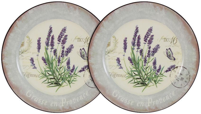 Набор десертных тарелок LF Ceramic Лаванда, 20 см, 2 шт банка для чая lf ceramic лаванда 700 мл