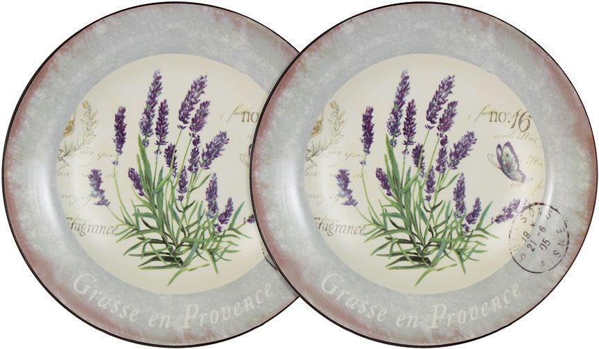 Набор суповых тарелок LF Ceramic Лаванда, 21 см, 2 шт банка для чая lf ceramic лаванда 700 мл