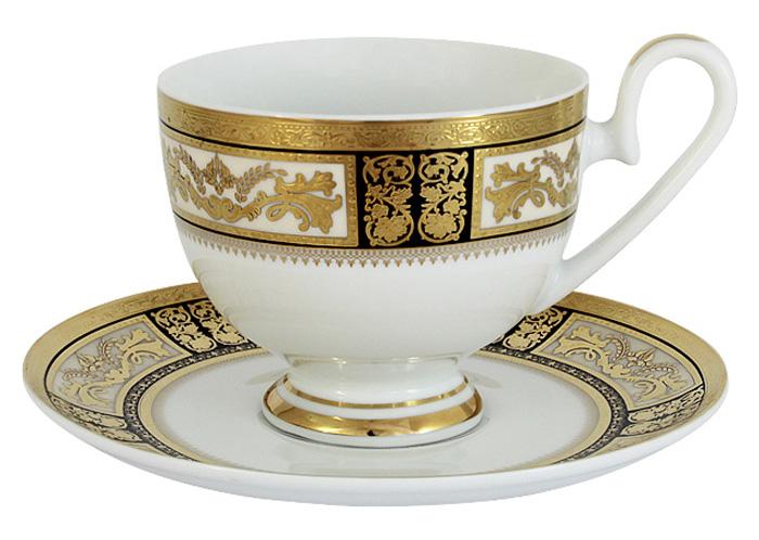 Чашка с блюдцем Midori Елизавета, 0,2 л. MI2-K7703-Y7/CS-ALMI2-K7703-Y7/CS-ALЧашка с блюдцем Midori Елизавета выполнена из высококачественного твердого фарфора. Оригинальный дизайн, несомненно, придется вам по вкусу.Чайная пара Midori Елизавета украсит ваш кухонный стол, а также станет замечательным подарком к любому празднику.