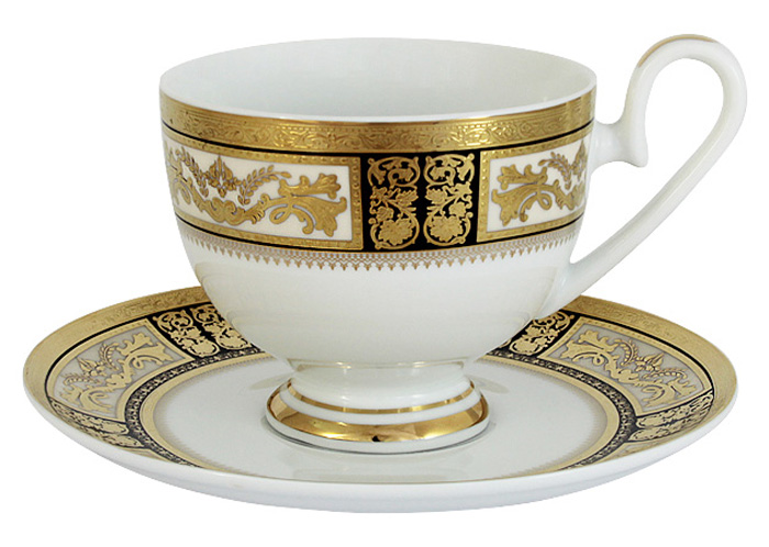 Чашка с блюдцем Midori Елизавета, 0,2 л. MI2-K7703-Y7/CS-AL midori