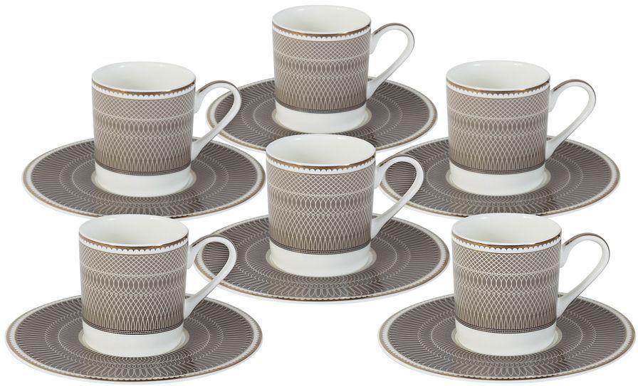 Кофейный набор Naomi Мокко, 100 мл, 12 предметов, NG-I150905A-C6-ALNG-I150905A-C6-ALКофейный набор Naomi Мокко состоит из 6 чашек и 6 блюдец. Набор выполнен извысококачественного костяного фарфора и оформлен стильным дизайном.Сервизы Naomi могут стать прекрасным подарком на свадьбу, новоселье или другоезначительное событие, ведь форма и дизайн Naomi никогда не выйдут из моды и всегда будетрадовать своих хозяев.