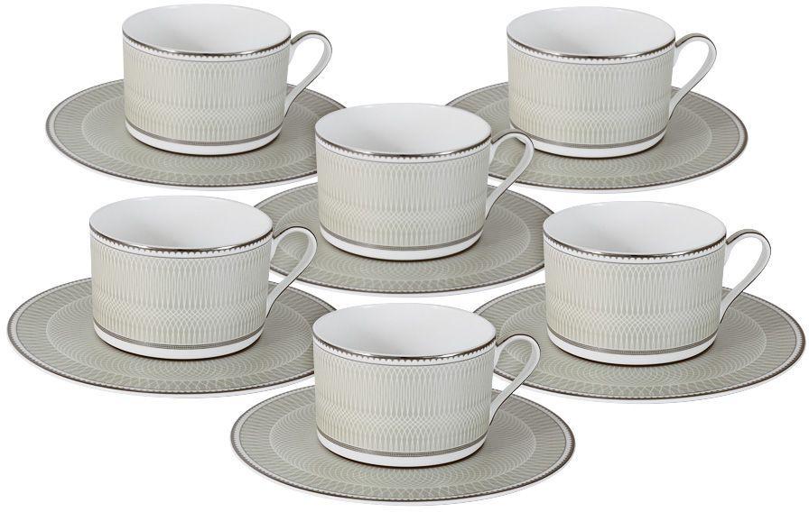 Набор чайный Naomi Маренго, 12 предметов. NG-I150905C-T6-ALNG-I150905C-T6-ALНабор чайный Naomi Маренго состоит из 6 чашек и 6 блюдец. Чайная посуда торговой марки Naomi из высококачественного костяного фарфора отличается прекрасными дизайнами, исполненными как в современном, так и в классическом стиле по разработкам современных японских художников. Все изделия изготавливаются на современном оборудовании по новейшим технологиям и проходят строгий контроль качества. Чайный набор Naomi - идеальный и необходимый подарок для вашего дома и для ваших друзей в праздники.