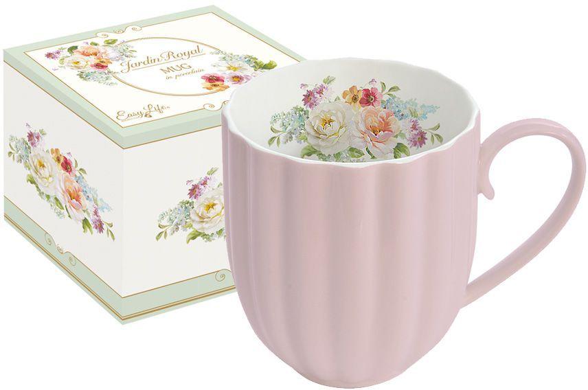Кружка Nuova R2S Королевский сад, цвет: розовый, 300 млR2S1280/ROYP-ALКружка Nuova R2S Королевский сад изготовлена из высококачественного фарфора. Изделие дополнено рельефом и цветочным рисунком на внутренней поверхности. Кружка отлично сохраняет температуру содержимого - морозной зимой кружка будет согревать вас горячим чаем, а знойным летом, напротив, радовать прохладными напитками. Такой аксессуар создаст атмосферу тепла и уюта, настроит на позитивный лад и подарит хорошее настроение с самого утра. Такая посуда идеально подойдет в подарок близкому человеку.