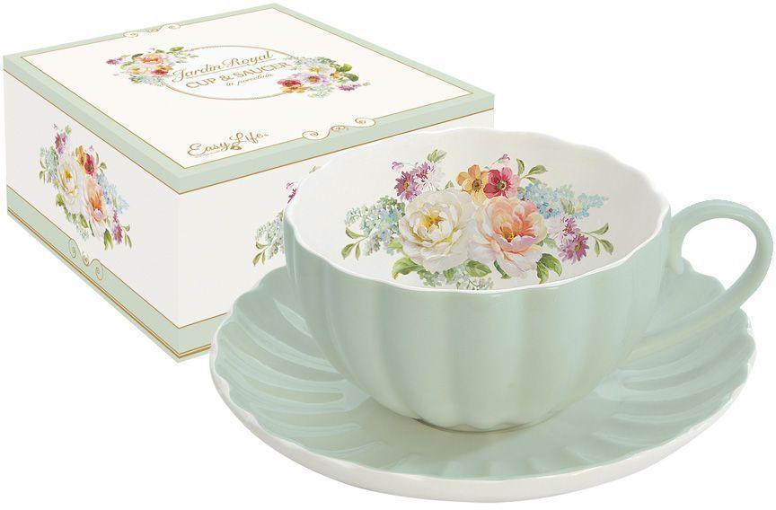 Чайная пара Nuova R2S Королевский сад, 2 предметаR2S1282/ROYG-ALЧайная пара Nuova R2S Королевский сад состоит из чашки и блюдца, изготовленных из высококачественного фарфора. Яркий дизайн изделий, несомненно, придется вам по вкусу.Чайная пара Nuova R2S Королевский сад украсит ваш кухонный стол, а также станет замечательным подарком к любому празднику.Объем чашки: 200 мл.