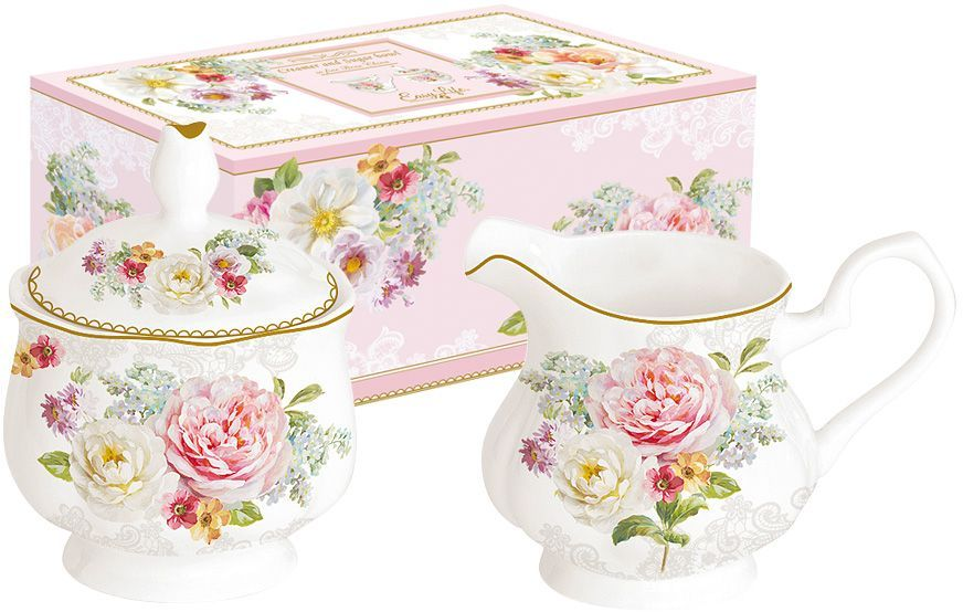 Набор Nuova R2S Цветочная романтика: сахарница, молочник кружка nuova r2s милый друг 350 мл