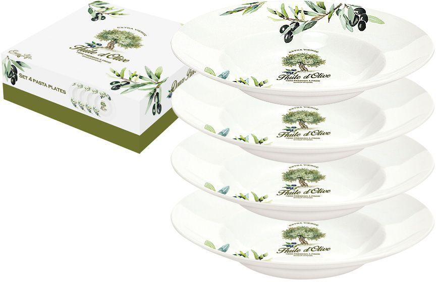 Набор тарелок для пасты Nuova R2S Прованс, диаметр 22 см, 4 шт r2s