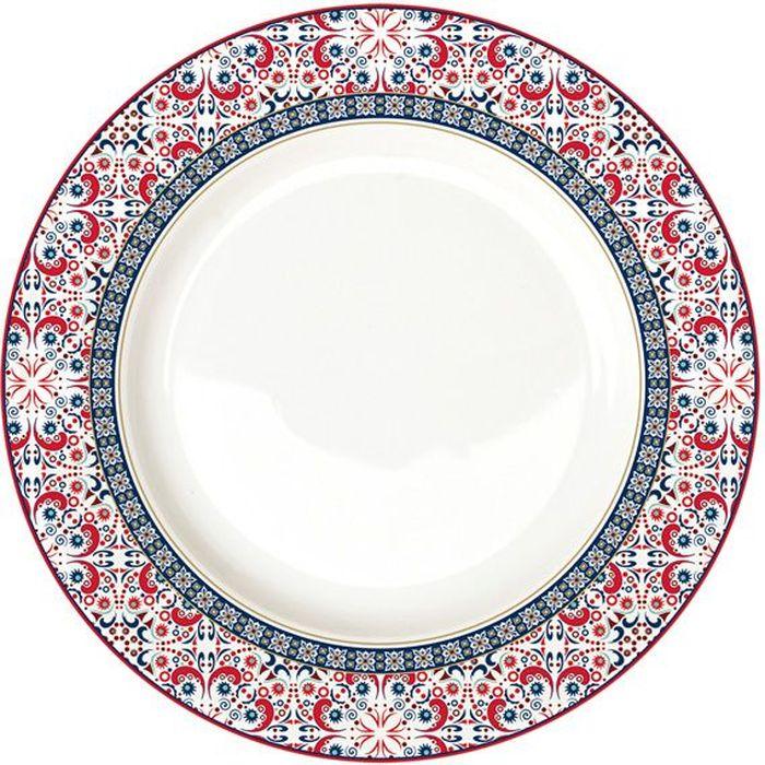 Тарелка обеденная Nuova R2S Мавритания, 26,5 см. R2S942/ALHA-ALR2S942/ALHA-ALТарелка обеденная 26.5см МавританияКонцепция выпускаемой продукции заключается в создании единой дизайнерской линии предметов сервировки стола, оформления интерьера кухни или столовой комнаты. Вся продукция производится из современных и экологически чистых материалов: фарфора, стекла, пластика и дерева.Продукция компании NUOVA R2S отличается современным дизайном, и легкостью в эксплуатации. Компания работает в тесном сотрудничестве с лучшими итальянскими художниками и дизайнерами.