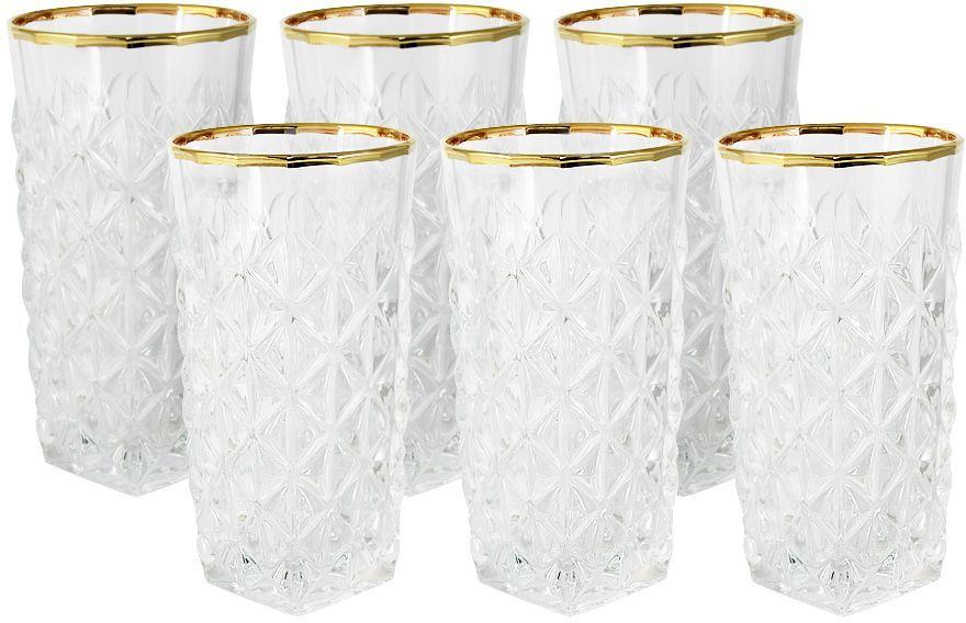 Набор стаканов для воды Same Decorazione Энигма, 0,35 л, 6 шт. SM3858/1-ALSM3858/1-ALНабор: 6 стаканов для воды 0.35л ЭнигмаХрустальные изделия из Италии от компании Same Decorazione — это маленькие шедевры, о которых знает уже немалая часть Европы.Выполненные из высокосортного хрусталя (24% PbO ), все изделия выделяются своим изяществом и блеском. А элегантная форма подчеркивается нежными изысканными рисунками, декорированными 24-каратным золотом и платиной.Хрустальные изделия Same Decorazione отличаются чистым, неискажённым преломлением света, прозрачностью и красотой граненых поверхностей. Золотая и платиновая отделка безопасна для использования