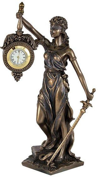 Статуэтка Veronese Фемида, с часами, 9,5х7,5х20 см статуэтки veronese статуэтка индеец с копьем и щитом