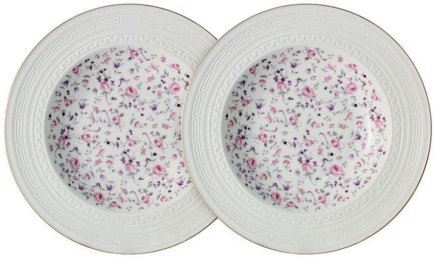 Набор суповых тарелок Colombo Стиль, диаметр 23 см, 2 штC2-SP/2-6402ALНабор Colombo Стиль состоит из двух суповыхтарелок, выполненных из высококачественного костяного фарфора. Изделиядекорированы изображениями цветов. Тарелки имеют круглую форму.Такой набор украсит сервировку стола и порадует вас изящнымдизайном. Рекомендуется мыть в теплой воде с применением мягких моющих средств.Диаметр: 23 см.