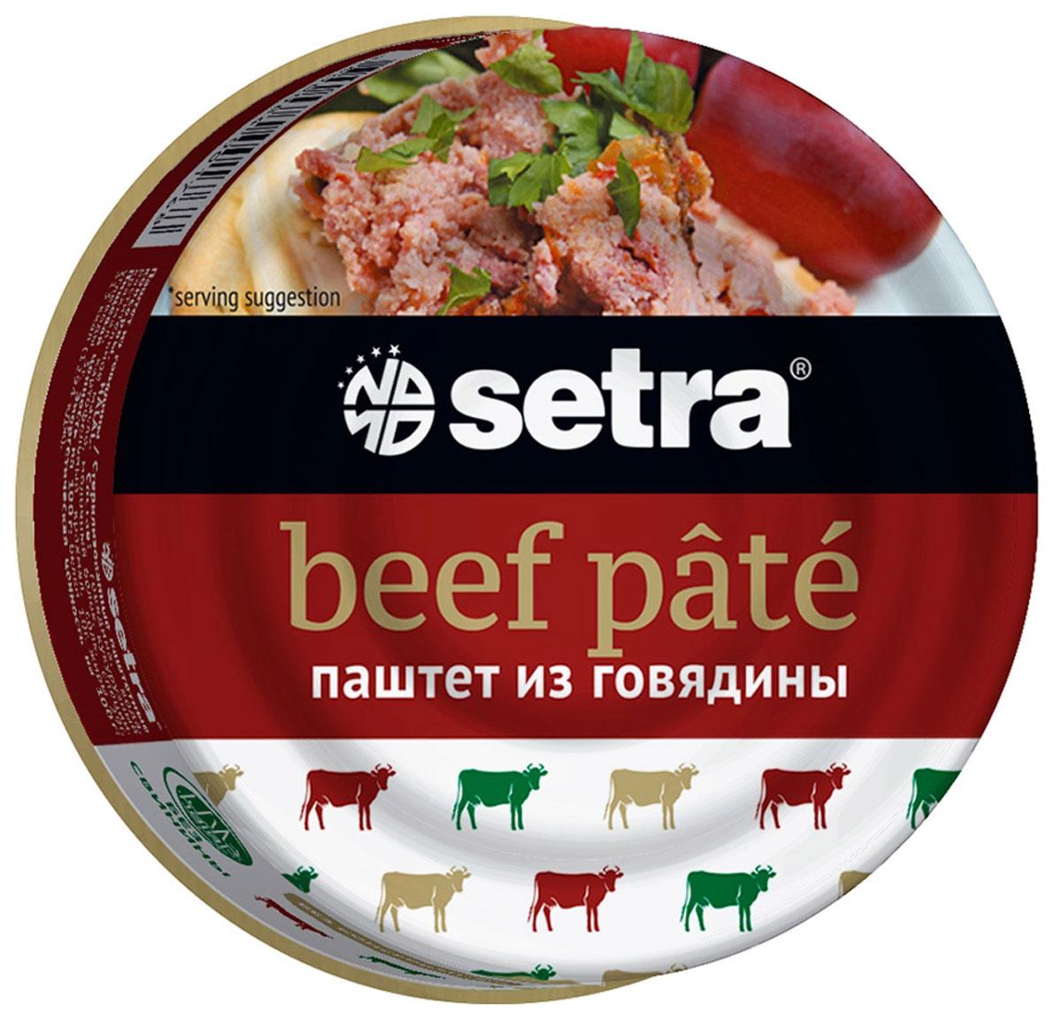 Setra паштет из говядины, 100 г setra паштет утиный 100 г