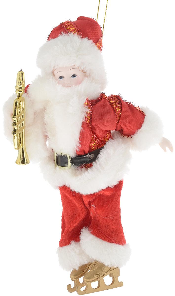 Украшение новогоднее подвесное Win Max Ангел с трубой, высота 20 см74886A_красный, белыйНовогоднее подвесное украшение Win Max Ангел прекрасно подойдет для праздничного декора дома и новогодней ели. Изделие выполнено из высококачественных материалов в виде мальчика на коньках и с трубой, одетого в костюм Деда Мороза. Для удобного размещения на елке для украшения предусмотрена петелька. Елочная игрушка - символ Нового года. Она несет в себе волшебство и красоту праздника. Создайте в своем доме атмосферу веселья и радости, украшая новогоднюю елку нарядными игрушками, которые будут из года в год накапливать теплоту воспоминаний.