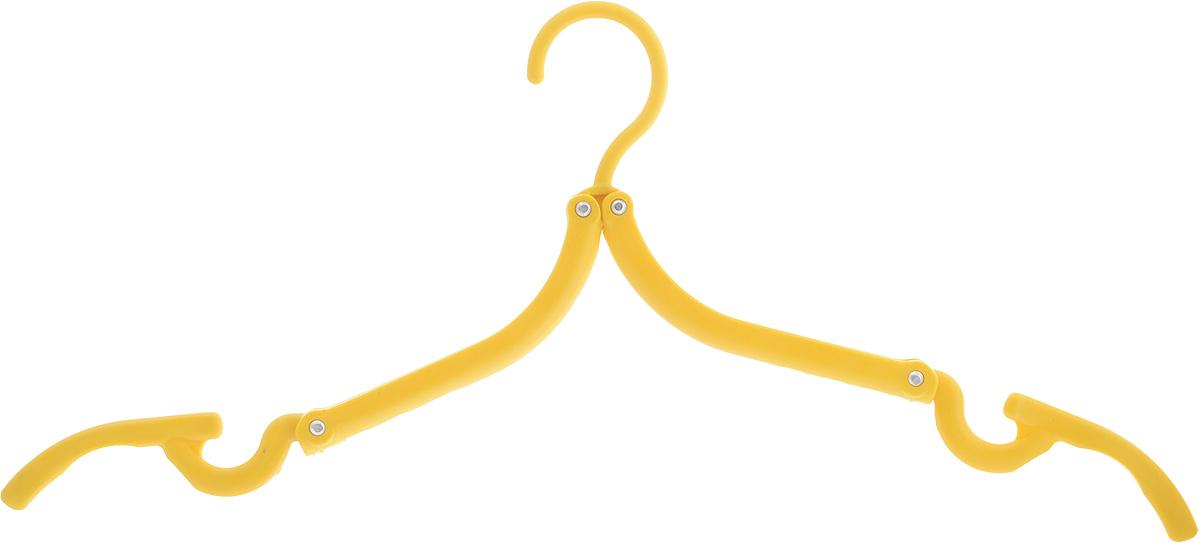Вешалка Home Queen, складная, цвет: желтый, длина 42 см мочалка из нейлона home queen цвет желтый 57199