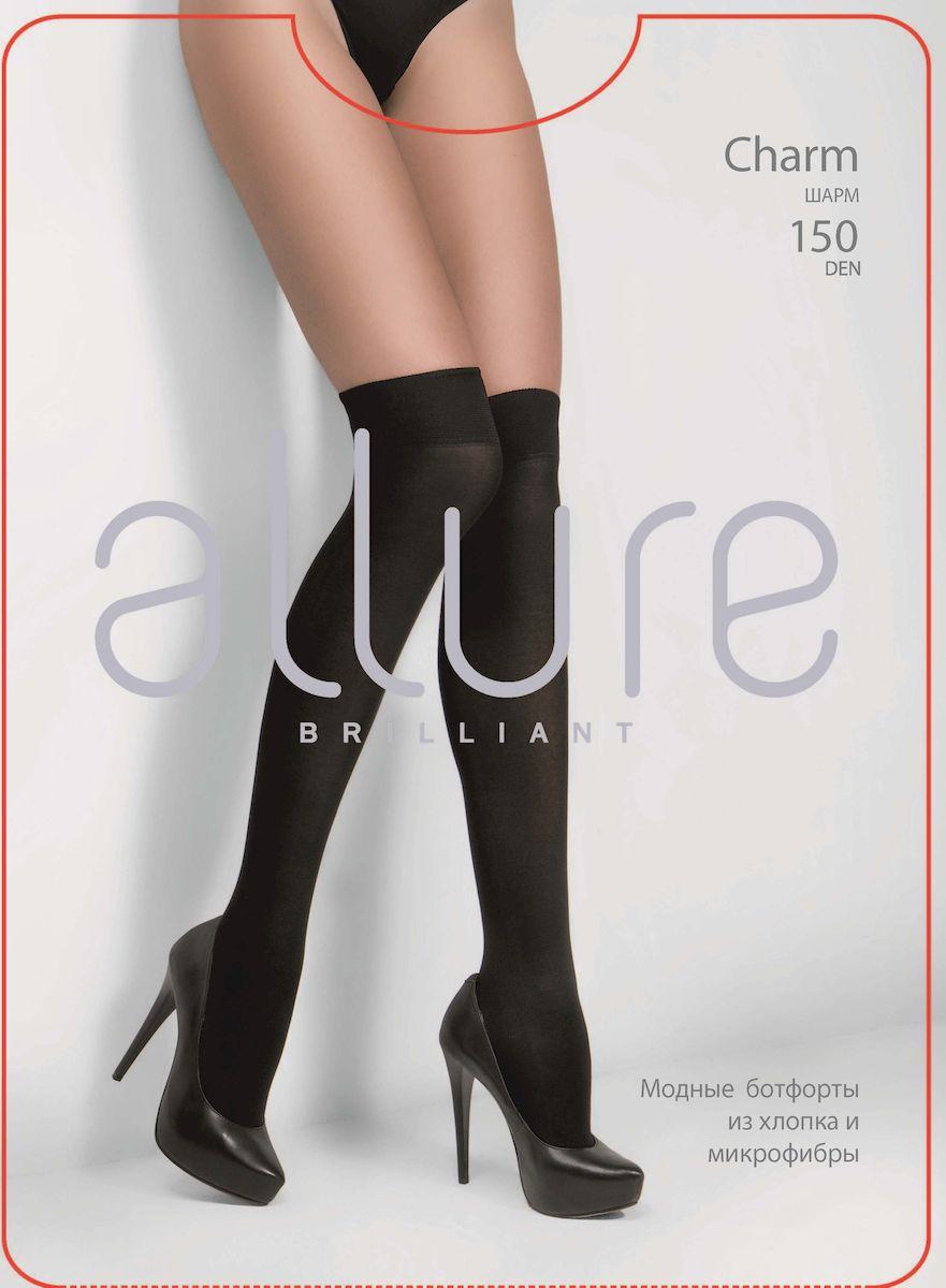 Гетры Allure Charm 150, цвет: Nero (черный). Размер универсальный гольфы allure massage 40 цвет nero черный размер универсальный