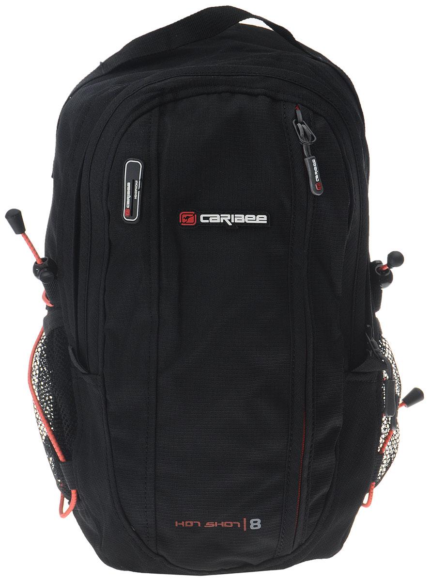 Рюкзак городской Caribee Hot Shot, цвет: черный, оранжевый, 8 л