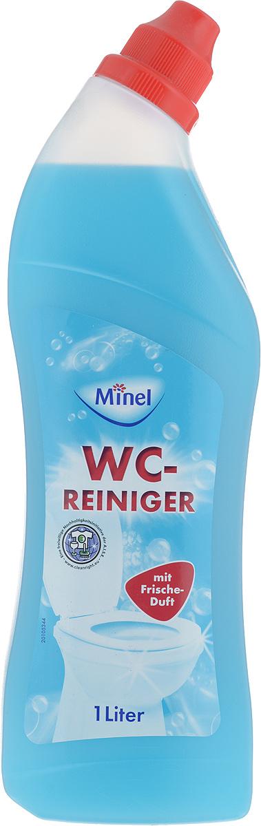 """Чистящее средство Minel """"WC-Reiniger"""" обеспечивает легкий и эффективный уход за унитазом.  Особенности Minel """"WC-Reiniger"""":  - эффективное и экономичное средство для чистки унитаза от известкового налета,  - идеальная чистота и полная дезинфекция,   - отлично очищает слив от известкового налета,   - гигиена и свежесть для туалета,  - подходит для ежедневного применения.Товар сертифицирован.    Как выбрать качественную бытовую химию, безопасную для природы и людей. Статья OZON Гид"""
