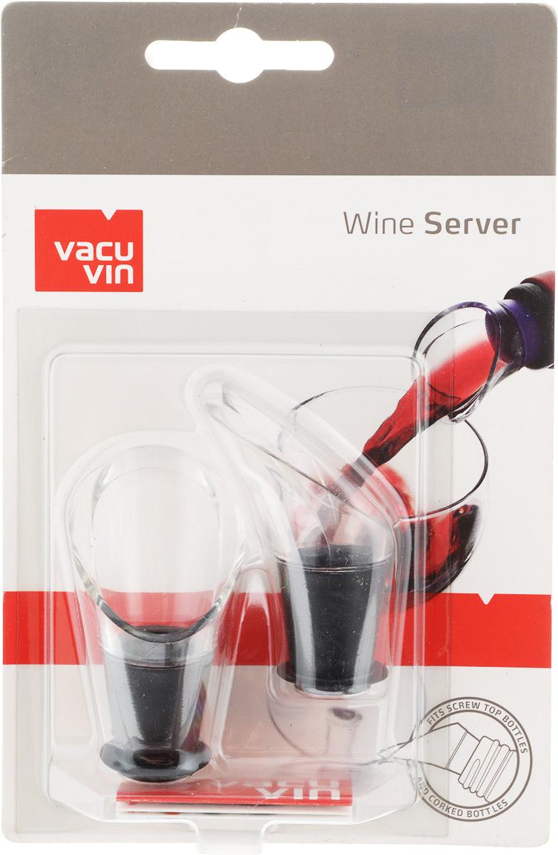 Набор каплеуловителей VacuVin Wine Server, 2 шт. 18540601854060Элегантный уловитель капель Wine Server, изготовленный из высокопрочного пластика, помогает сохранить вашу скатерть чистой. Уловитель имеет раздвоенный носик, позволяющий возвращать оставшиеся на уловителе капли в бутылку. Уловитель капель Wine Server прекрасно подходит для большинства винных бутылок. Размер каплеуловителя: 5,5 см х 3,5 см х 3,5 см.