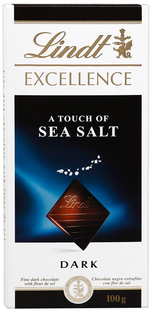 Lindt Excellence темный шоколад с морской солью, 100 г lindor конфеты lindor lindt из молочного шоколада 125г