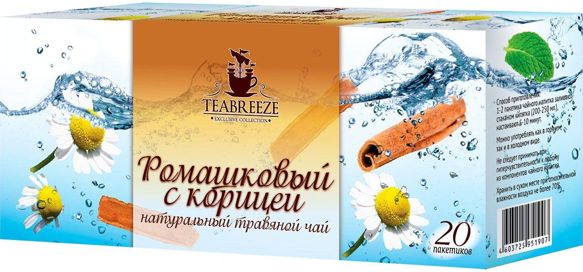 Teabreeze Ромашковый с корицей чай травяной в фильтр-пакетиках, 20 шт