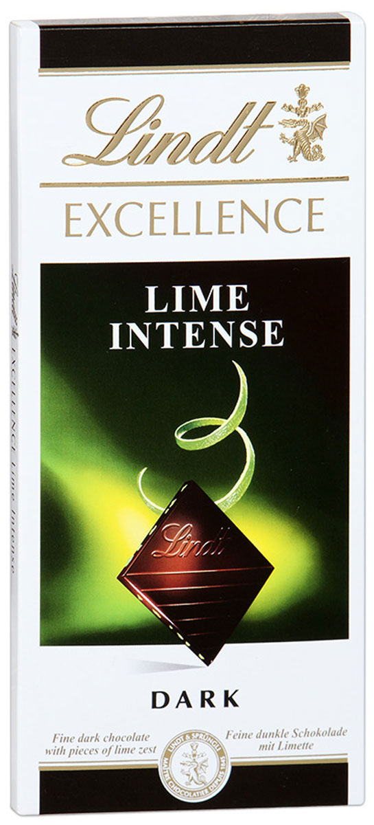 Lindt Excellence темный шоколад с лаймом, 100 г lindt шоколад темный lindt excellence с лаймом 100г