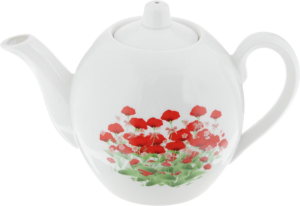 Чайник заварочный Фарфор Вербилок Альпийский луг, 800 мл1643440Заварочный чайник Фарфор Вербилок Альпийский луг изготовлен из высококачественного фарфора. Изделие прекрасно подходит для заваривания вкусного и ароматного чая, а также травяных настоев. Отверстия в основании носика препятствуют попаданию чаинок в чашку. Оригинальный дизайн сделает чайник настоящим украшением стола. Он удобен в использовании и понравится каждому.Диаметр чайника (по верхнему краю): 6 см. Высота чайника (без учета крышки): 12 см.