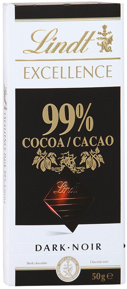 Lindt Excellence горький шоколад, 50 г lindt excellence белый шоколад с ванилью 100 г