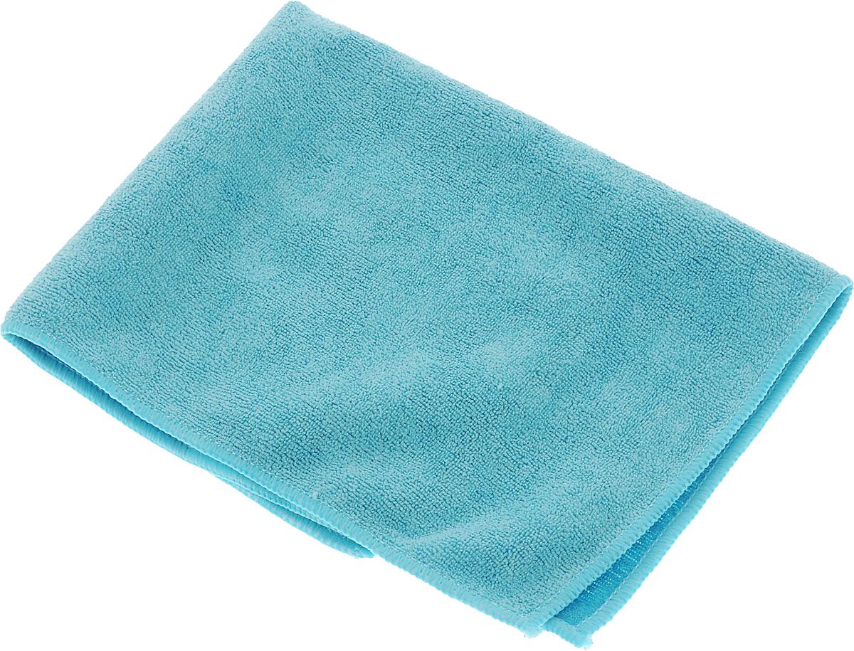 Салфетка из микрофибры Magic Power, с леской, цвет: голубой, 36 х 38 см супер салфетка из микрофибры с леской magic power mp 508