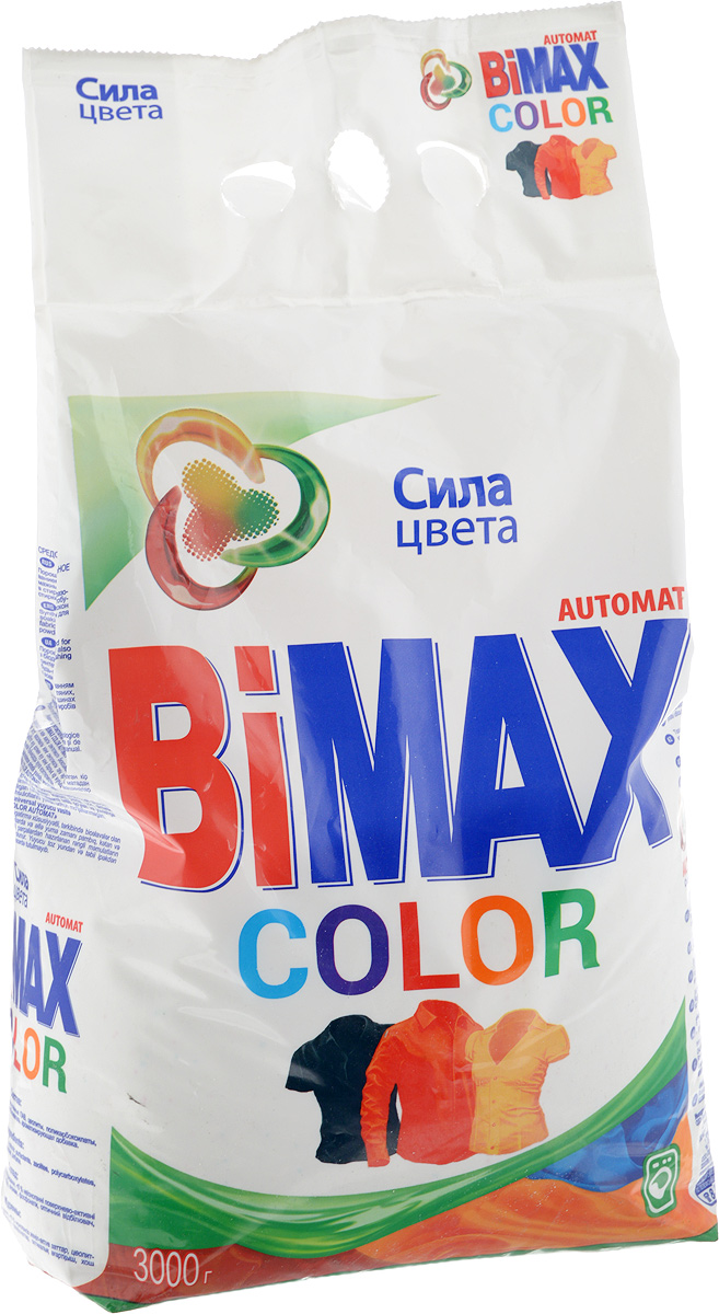 Стиральный порошок BiMax Color, автомат, 3 кг стиральный порошок колор пемос 3 5 кг