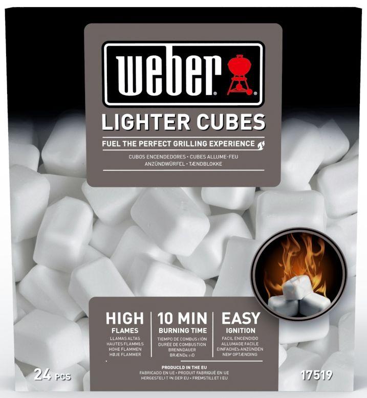 Кубики для розжига Weber, 24 шт17519Парафиновые кубики для розжига Weber станут идеальной заменой жидким смесям для розжига. Кубики не токсичны, экологически безопасны, при горении не образуют дыма. После полного сгорания не остается никакого постороннего запаха, так что ничто не испортит вкус истинного барбекю.
