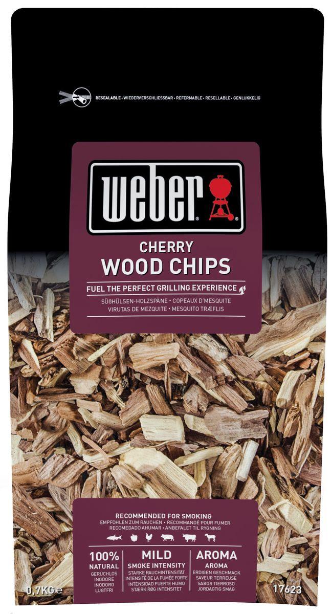 Щепа для копчения Weber Вишня17623Щепа для копчения Weber Вишня прекрасный выбор для любителей копчения. Она изготовлена с использованием веток вишни. Подходит для копчения таких продуктов как рыба, курица, баранина, и, в особенности для свинины и овощей. Щепа поставляется в герметичной упаковкеи со специальной застежкой-молнией. Пакет может быть использован как емкость для замачивания щепы.