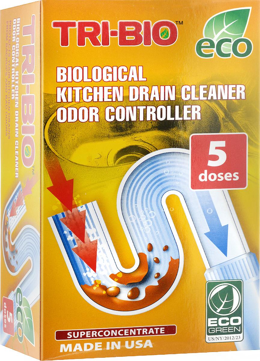 Биосредство Tri-Bio, для прочистки стоков бытовых и коммерческих кухонь, суперконцентрат, 100 г0040Биосредство Tri-Bio идеально подходит для всех видов труб. Расщепляет и перерабатывает жиры. Очищает трубы и стоки от органических отходов. Ликвидирует наросты на трубах. Уничтожает вредные бактерии. Удаляет неприятные запахи, устраняя причину запаха. Абсолютно безопасен для труб. Предохраняет систему от закупоривания. В отличие от стандартных химических продуктов, полностью очищает стенки трубы, образует защитную биопленку, предотвращающую образование отложений и налета на стенках труб. Всего 10 граммов раз в две недели избавят вас от засоров и неприятных запахов на кухне. Особенности биосредства Tri-Bio для здоровья: без фосфатов, без растворителей, без хлора отбеливающих веществ, без абразивных веществ, без красителей, без токсичных веществ, нейтральный pH. Мощная и безопасная альтернатива химическим аналогам. Присвоен сертификат ECO GREEN. Особенности биосредства Tri-Bio для окружающей среды: низкий уровень ЛОС, легко биоразлагаемо, минимальное влияние на водные организмы, рециклируемые упаковочные материалы, не испытывалось на животных. Особо рекомендуется использовать в домах с автономной канализацией. Способ применения (для домашних кухонь): раз в 2 недели размешать 2 мерные ложки (10 г) в 100 мл теплой воды, дать постоять 10 минут, залить в сток, оставить на ночь. При сильном засорении - по 1 мерной ложке каждый день, в течение 2-x недель, затем обычное использование. Состав: био-формула, содержащая культур жизнеспособные микроорганизмы (класс 1 непатогенные).Товар сертифицирован.Как выбрать качественную бытовую химию, безопасную для природы и людей. Статья OZON Гид