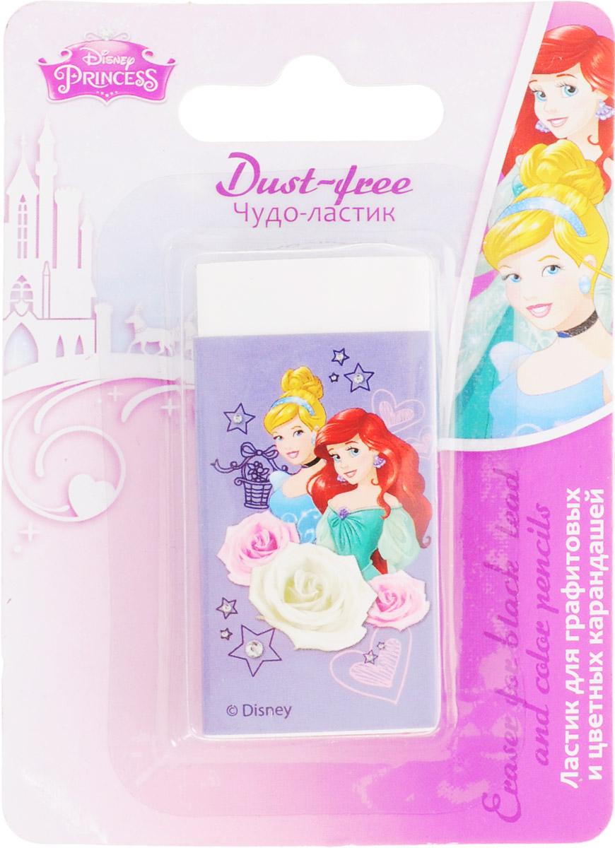 Disney Princess ЛастикPRCB-US1-215-BL1Удобный ластик Disney Princess идеально убирает следы от чернографитных и цветных карандашей и оставляет рабочую поверхность практическичистой.Ластик не царапает бумагу и не содержит вредных красителей.Рекомендуемый возраст: для детей от 3-х лет.