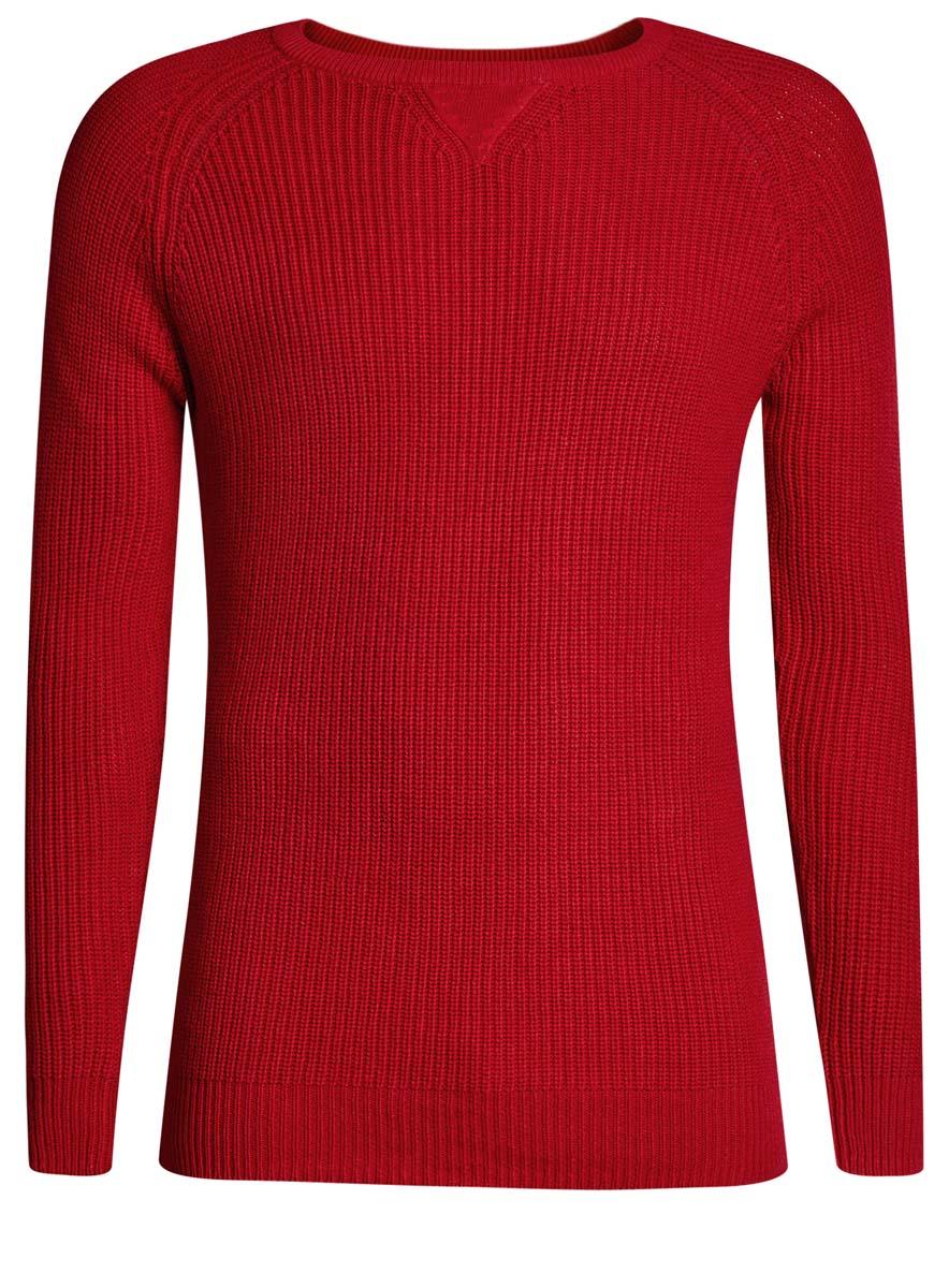 Джемпер мужской oodji Lab, цвет: красный. 4L105048M/44534N/4500N. Размер L (52/54) платье oodji collection цвет красный 24007026 37809 4500n размер l 48