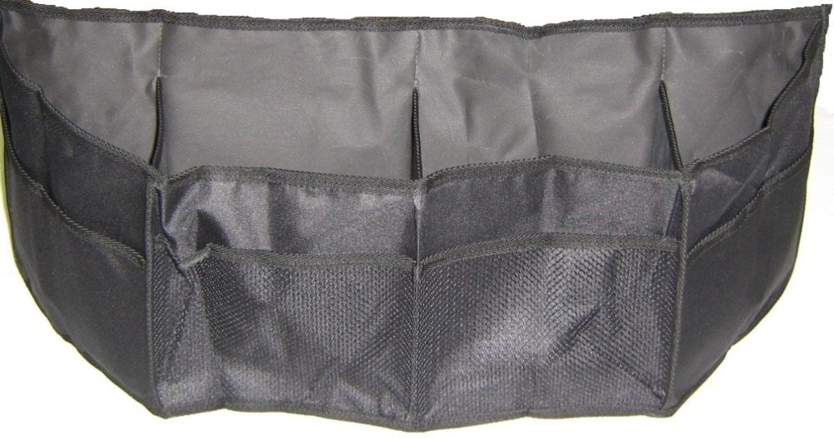 Сумка-органайзер в багажник Антей. 003-И003-ИКомпактный и удобный органайзер Антей имеет 4 отделения и дополнительные сетчатые карманы. Органайзер фиксируется к задним сиденьям. Днище снабжено антискользителями (текстильные липучки). В сложенном состоянии имеет минимальный объем.