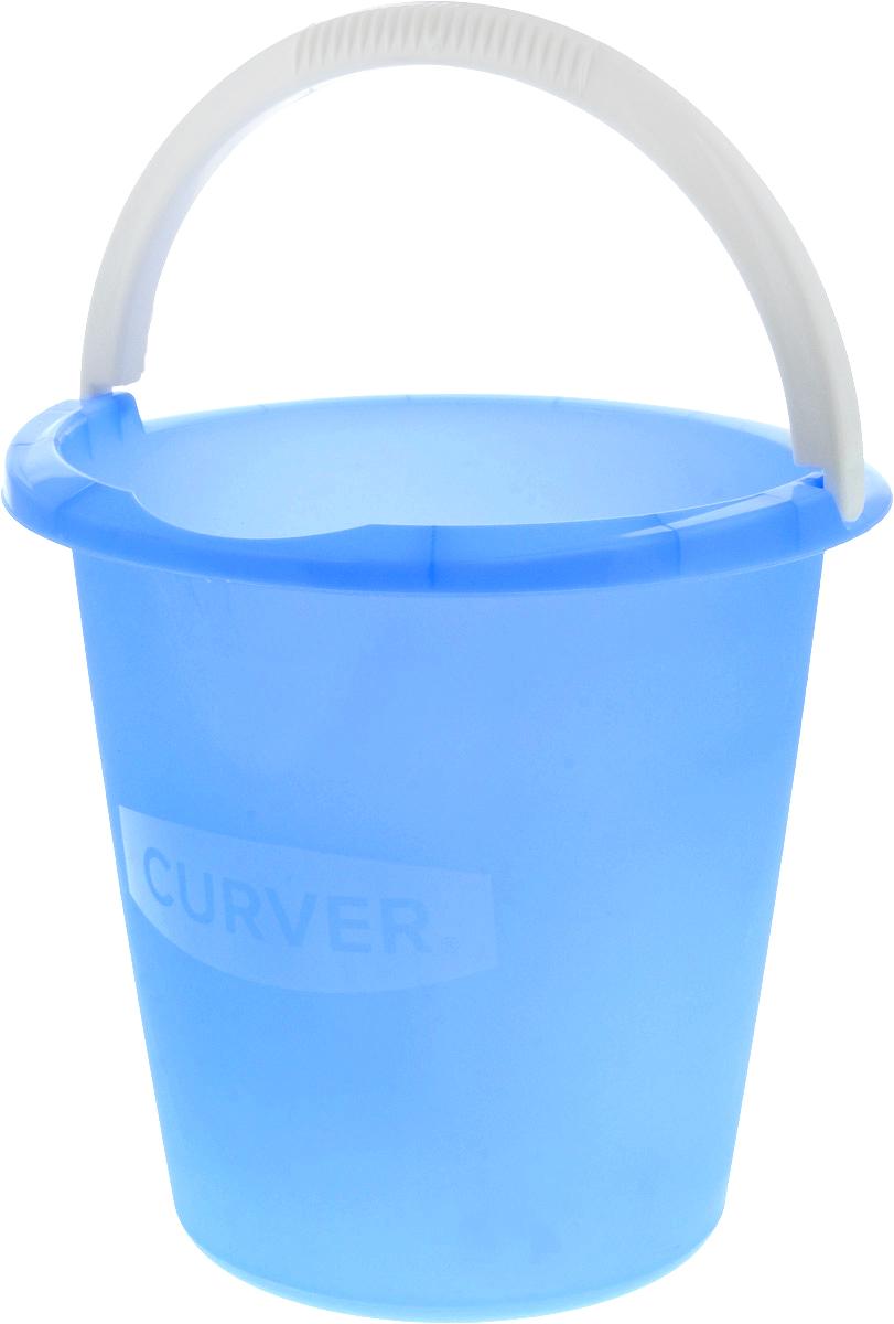 Ведро Curver, цвет: синий, 10 л1301_синийВедро Curver выполнено из прочного пластика. Изделие снабжено небольшим носиком и удобной рельефной ручкой. На внутреннюю поверхность нанесены отметки литража. Такое ведро пригодится в любом хозяйстве, оно отлично подойдет для мытья полов или хранения мусора.