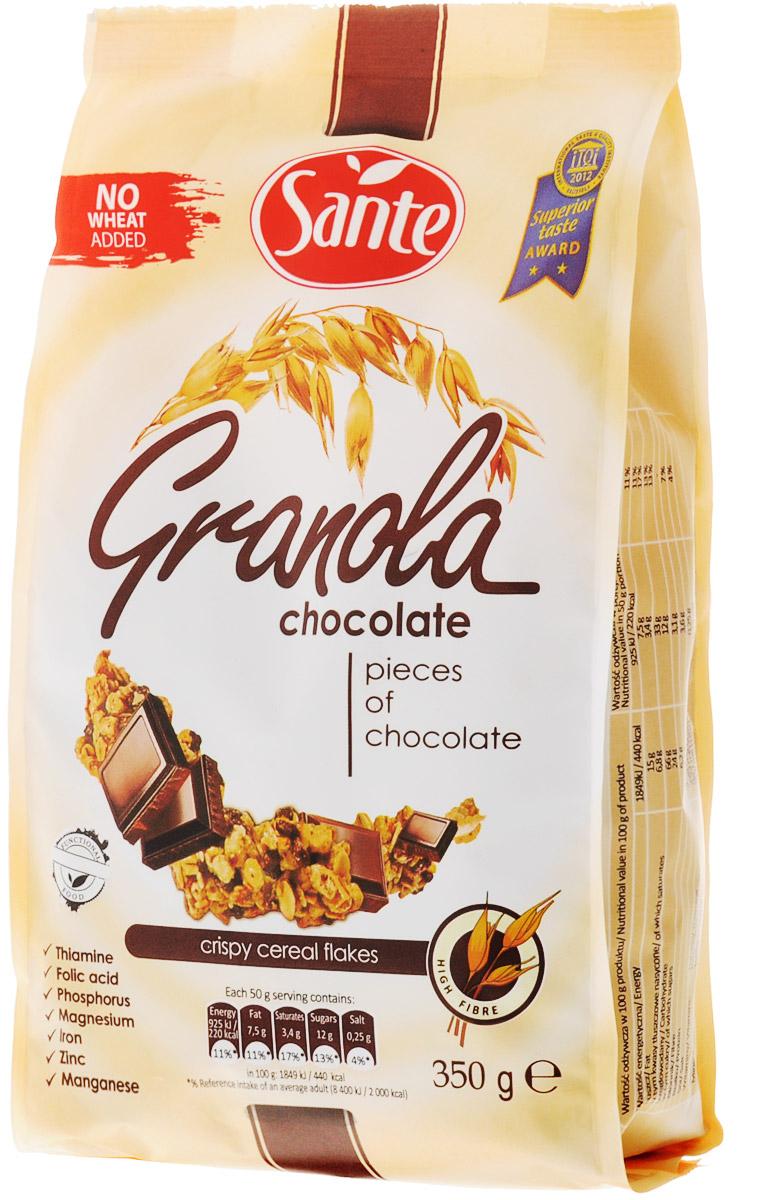 Sante Granola хрустящие злаковые хлопья с шоколадом, 350 г арта смородина протертая с сахаром 350 г