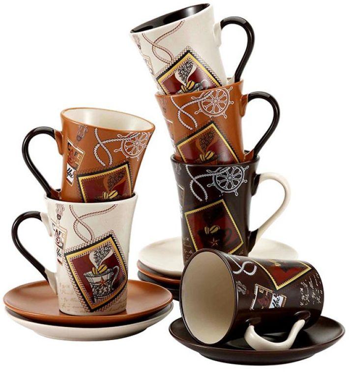 Набор чайный Wellberg, 12 предметов. 42014 WB42014 WBЧайный набор Wellberg состоит из 6 чашек и 6 блюдец. Набор, выполненный из высококачественной керамики, изящно дополнит сервировку стола к чаепитию. Не рекомендуется мыть в посудомоечной машине и использовать в микроволновой печи.Объем чашки: 200 мл.Диаметр чашки: 7,5 см.Высота чашки: 10 см.Диаметр блюдца: 15 см.Высота блюдца: 2 см.