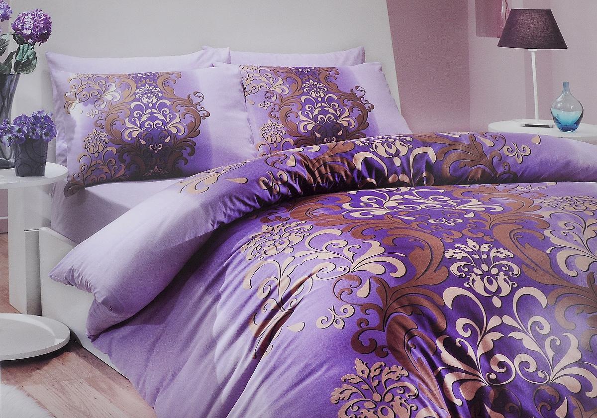 Комплект белья Hobby Home Collection Almeda, 1,5-спальный, наволочки 50x70, 70x70, цвет: фиолетовый1501000205Комплект белья Hobby Home Collection Almeda состоит из простыни, пододеяльника и 2 наволочек. Белье выполнено из ранфорса - это ткань из 100% натурального хлопка, которая легко стирается, практичнее льна, подстраивается под температуру воздуха - зимой на таком белье тепло, летом - прохладно. Мягкость и нежность материала создает чувство комфорта и защищенности. У хлопка хорошая проводимость тепла, поэтому постельное белье из него может надолго оставаться свежим. Постельное белье с оригинальными дизайнами станет отличным выбором для людей, стремящихся всегда быть стильными. Советы по выбору постельного белья от блогера Ирины Соковых. Статья OZON Гид