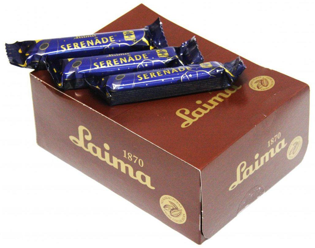 Laima Серенада Шоколадный батончик, 24 шт по 40 гP130303511Шоколадная крупная конфета с мягким грильяжем.