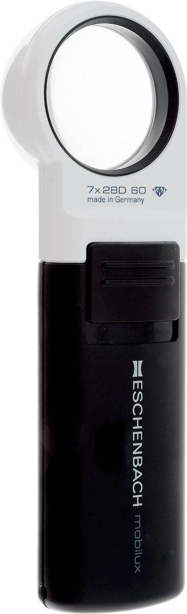 Лупа ручная Eschenbach Mobilux LED, с подсветкой, 7.0х 28.0 дптр, диаметр 3,5 см лупа выдвижная асферическая eschenbach easypocket 3x 50x45 мм с подсветкой черная