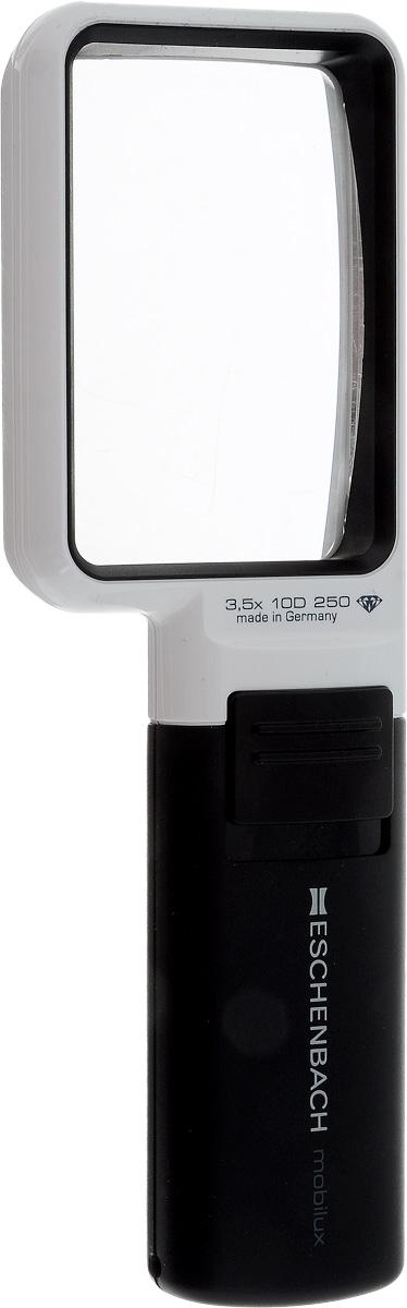 Лупа ручная Eschenbach Mobilux LED, с подсветкой, 3.5х 10.0 дптр, 7,5 х 5 см лупа выдвижная асферическая eschenbach easypocket 3x 50x45 мм с подсветкой черная