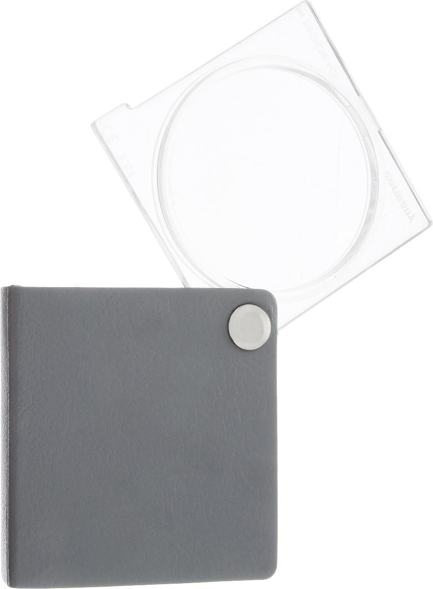 Лупа Eschenbach Economy, складная, цвет: серый, 3.5х 10.0 дптр, диаметр 4,5 см173023Складная карманная лупа Eschenbach Economy, выполненная изполимера, предназначена для увеличения мелкихпредметов. Маленькая и компактная она не занимает много места. Кожаныйфутляр обеспечивает надежную защиту для линзы. Используется во многихобластях человеческойдеятельности, в том числе в биологии, медицине,археологии, банковском и ювелирномделе, криминалистике, при ремонте часов ирадиоэлектронной техники, а также в филателии,нумизматике и бонистике, при чтениимелкого шрифта дома, ценников, информации опродуктах, аннотации к лекарствам и прочее. Диаметр линзы: 4,5 см. Общий размер: 5,5 х 5,5 см.