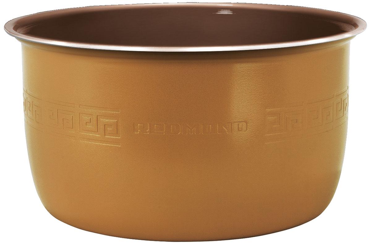 Redmond RB-C505F чаша для мультиваркиRB-C505FЧаша Redmond RB-C505F с керамическим покрытием c функцией MasterFry – уникальная высокотехнологичнаяновинка среди незаменимых и надёжных кухонных аксессуаров, главное отличие которой заключается всверхпрактичном и максимально устойчивом к механическим воздействиям материале чаши – керамике Ceralon(Швейцария).Чаша RB-C505F имеет вместительный объём 5 литров и полезную мерную шкалу внутри. Экологичная ёмкостьприменима для таких моделей мультиварок с функцией подъёмного нагревательного элемента (ТЭНа), как:FM4502, FM4520, FM4521, FM91, FM230, CBF390S.Redmond RB-C505F позволяет с комфортом жарить, варить и тушить любые изысканные блюда с минимальным количествоммасла, которые сохраняют свои непревзойдённые вкусовые и полезные качества. Особое покрытие исключаетвозможность пригорания и гарантирует равномерное, идеальное приготовление еды. Ёмкость можно такжеуспешно использовать для воплощения кулинарных идей в духовом шкафу и хранения продуктов. Вы сможетелегко помыть чашу под краном или в посудомоечной машине!